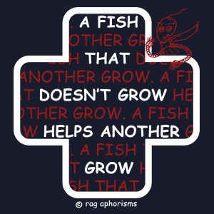 A fish that doesn't grow helps another grow