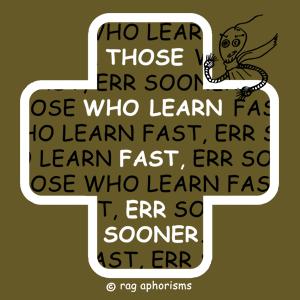 Those who learn fast err sooner